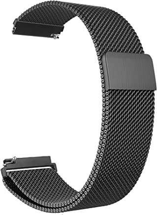 Fintie Armband für Samsung Galaxy Watch 46mm / Gear S3 Frontier/Gear S3 Classic Smart Watch - Edelstahl Milanese Magnet UhrBand Uhrenarmband Ersatzband, Schwarz