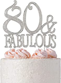 Best 80 and fabulous cake topper Reviews