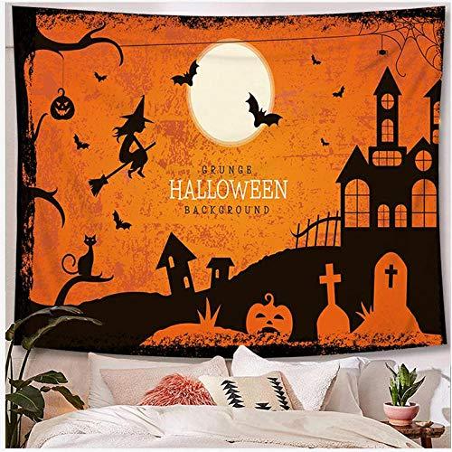 Tapices para el hogar Scared Halloween Series Patrón Tapiz para Colgar en la Pared Festival Fiesta de Noche Atrezzo Decoraciones 40x60 Pulgadas