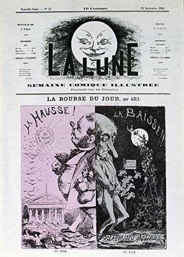 Frontpage of The Newspaper 'La Lune' September 16Th 1866Ô_: The Stock Exchange of The Day by Gill Poster Drucken (60,96 x 91,44 cm)