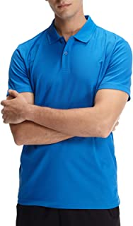 Men's Classic-Fit Short-Sleeve Quick-Dry Sports 100% Polyester Polo Shirt Moisture Wicking Performance Golf Shirts