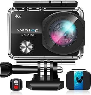 【在庫一掃セール】アクションカメラ4K VANTOP MOMENT 3 ウェアラブルカメラ 2.26インチLCD 1600万画素 WIFI搭載170度広角レンズ30M防水スポーツカメラHDMI出力.リモコン.32GB microSD日本語仕様書Goproと互換性のある豊富なアクセサリー付きドライブレコーダーとして使用可能