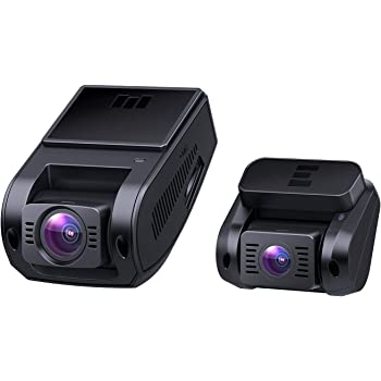 AUKEY Dual Dash Cam HD 1080P Front and Rear Camera Car Camera Supercapacitor 6-Lane 170 Degrees Wide-Angle Lens Dashcam with Night Vision, Loop, G-Sensor, Motion Detection and Dual-Port Car Charger