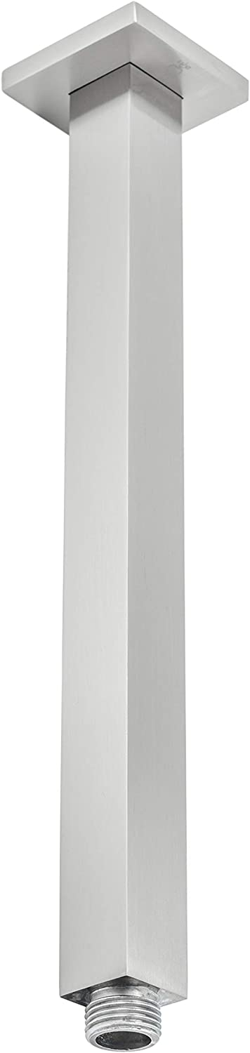 BAI Now on sale 0434 Ceiling Now free shipping Mounted 12-inch Shower Head Nick in Brushed Arm