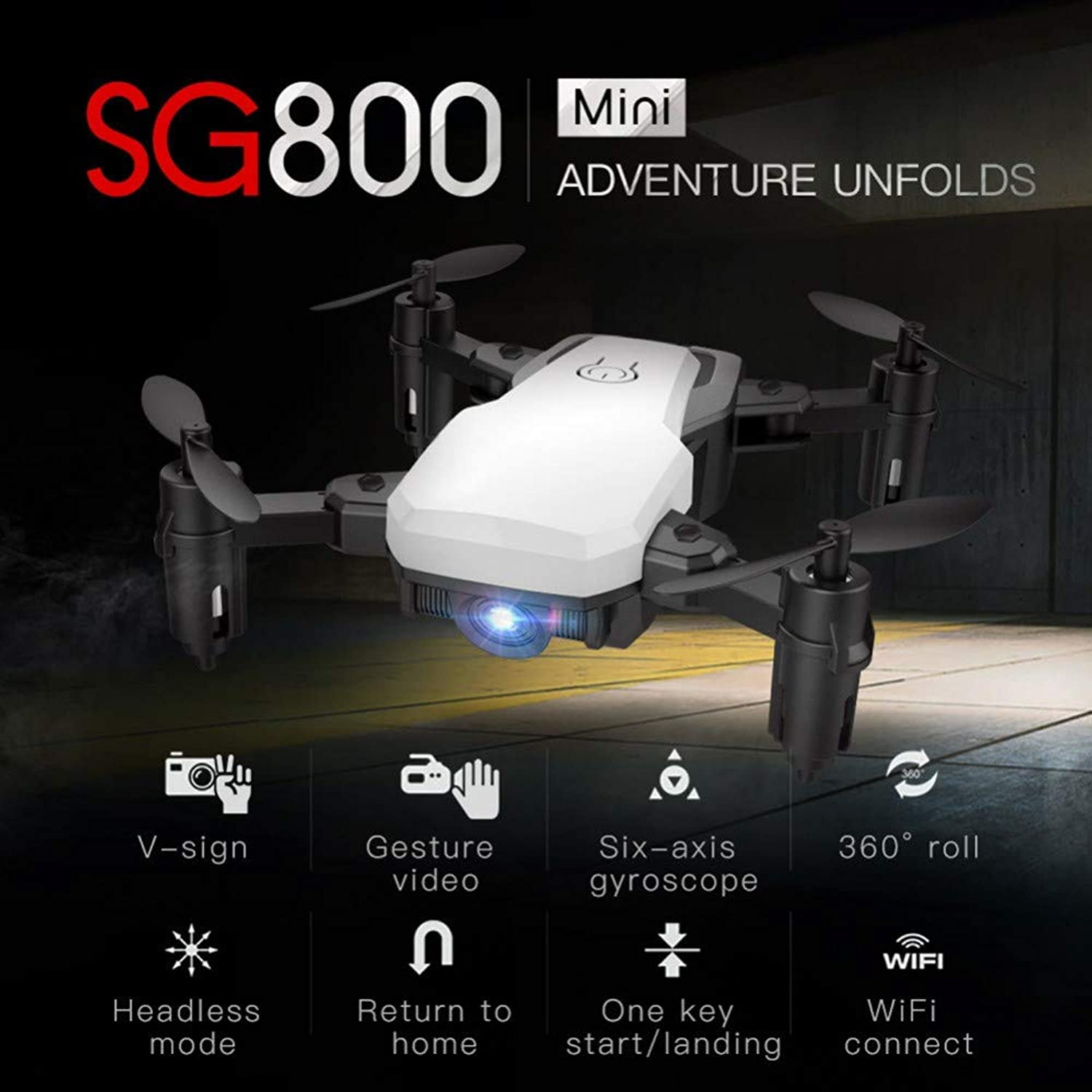 RENYAYA G800 Mini Drone with Wide Angle Camera Altitude Hold with headless mode RC Drones with Camera 720P HD Wifi FPV Quadcopter Dron RC Helicopter