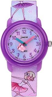 Kinderhorloge Cartoon Waterdichte horloge Kinderspatroon Cartoon Quartz horloge (paars)