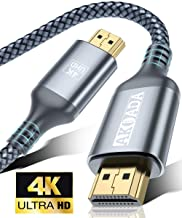 Cable HDMI 4K 2m, AkoaDa Cable HDMI 2.0 de Nylon Trenzado de Alta Velocidad, Full HD 1080p, HDR, HDCP 2.2, 4K UHD 2160p, Apto para PS3 PS3 Xbox One 360 HDTV Apple TV Roku Boxee Switch Computadoras