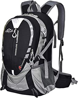 ABage 25L Lightweight Travel Hiking Backpack Durable Water Resistant Backpack for Hiking, Camping, Cycling, Black