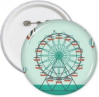 DIYthinker Le cadeau Parc d'attractions Vert cirque rond Motif Pins Badge Bouton Vêtements Décoration Multicolore S