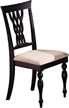 Hillsdale Furniture Embassy Dining Chairs (Set of 2), Standard, Rubbed Black