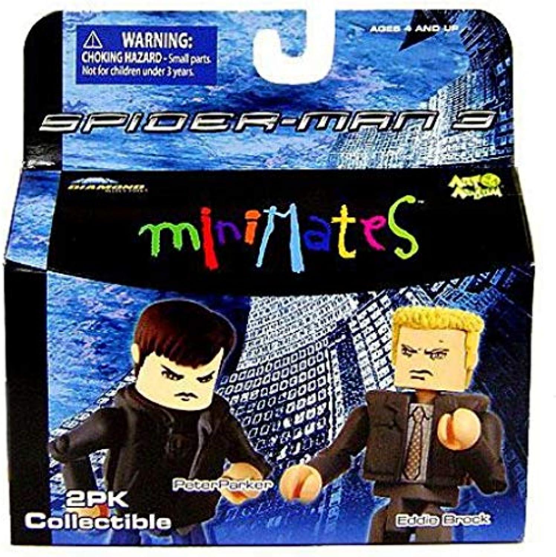 SpiderMan 3 Minimates 2Pk Collectible Figures  Peter Parker Vs. Eddie Brock