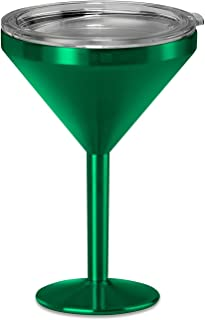True North Insulated Martini Glass (Jewel Green)