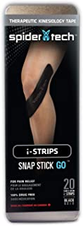 Spidertech Universal i-Strip 20 Pack (Tin) Black Kinesiology Tape