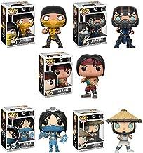 Pop Games: Mortal Kombat Scorpion, Sub-Zero, Liu Kang, Kitana, Raiden Vinyl Figures Set