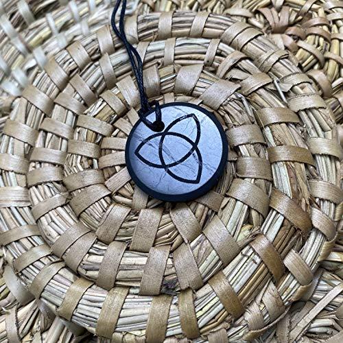 Shungite Colgante Tricvet Collar Auténtico Piedra de Rusia, Shungite Jewelry, Protección EMF