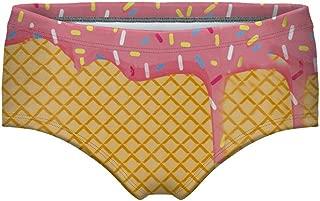 VINCINEY Women's Fashion 3D Digital Printed Panties Underwear Briefs Bikini Bottom Gifts