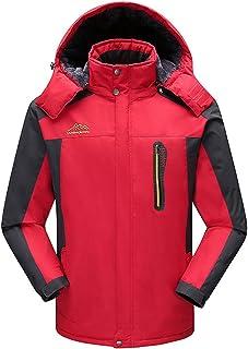 RUIYUNS Men's Outdoor Winter Warm Fur Waterproof Windproof Coat with Fleece Liner Warmest Outer Wear Sport Clothes Windbre...