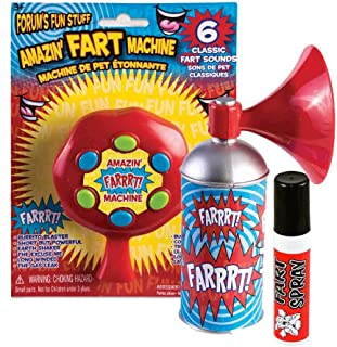 Future Memories Fart Gag Gift Set - 3 Piece Set - Fart Spray, Fart Machine, & Farts in a Can