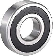 uxcell 6306-2RS Deep Groove Ball Bearing Double Sealed 180306, 30mm x 72mm x 19mm Chrome Steel Bearings Pack of 1