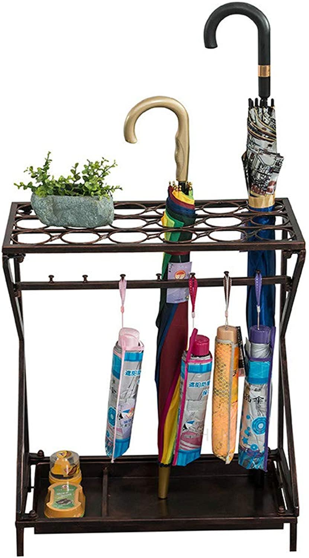 ZH1 Umbrella Stands Umbrella Stand Storage, for Canes Walking Sticks, Metal (color   Bronze)