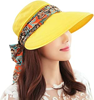 ABLE Wide Brim Cap Visor Hats UV Protection Sun Hats with Neck Cover for Women