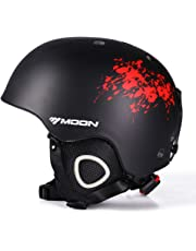 MOON スキーヘルメット スノーボードヘルメット サイクルヘルメット ゴーグル対応 耐衝撃 防風 防寒 怪我防止 調節可能 ウトドア スポーツヘルメット 大人用 男女兼用