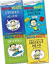 Big Nate Collection 4 Books Set Pack RRP: £22.96 (Big Nate On a Roll, Big Nate Strikes Again, Big Nate The Boy With The Biggest Head, Big Nate Boredom Buster)