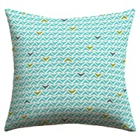 Deny Designs Heather Dutton Take Flight Aqua Outdoor Throw Pillow, 20 x 20