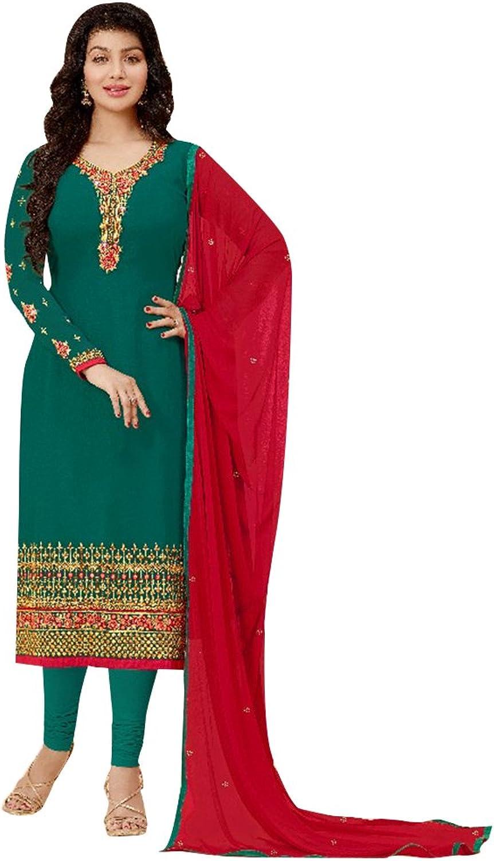 Bollywood Wedding Ceremony Straight Salwar Kameez Muslim Suit Gown Dress Ethnic 746