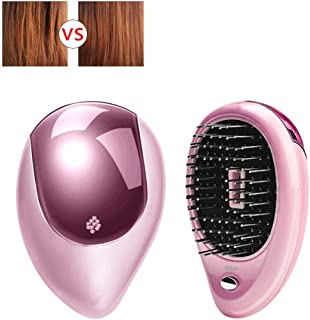 Portable Electric Ionic Hairbrush Takeout Mini Hair Brush Comb Electric Sound Wave Vibration Magnetic Small Massage Comb