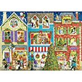 1000 Piece Jigsaw Puzzle -Christmas Pet- Naughty Cat&Dog Christmas Party House Jigsaw Puzzle for Kids Adult Teens Reduced Pressure Toy Gift