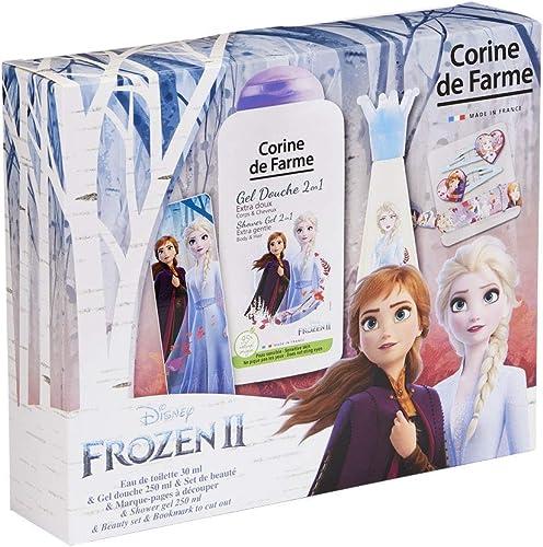 Corine de Farme | Reine des Neiges Coffret Cadeau | Parfum Enfant | Gel Douche Enfant | Barrette Fille | Bracelet Enf...