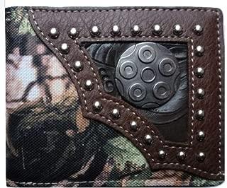 Bullet Men Wallet Western Bifold Check Book Style W034-56 Camo Brown