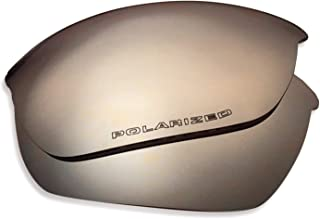 Oakley Half Jacket 2.0 Replacement Lenses (Dark Silver Mirror) - Polarized, 1.4 mm Thick, AR Coated, Added UV Protection, Fits Perfectly, for Men & Women