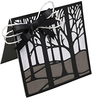 Wakeu Forest Tree Metal Cutting Dies DIY Paper Scrapbooking Embossing (01/11.6x10.2CM) (10x10cm)