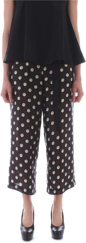 Carla Montanarini Women's 2631G44BLACK Black Polyamide Pants