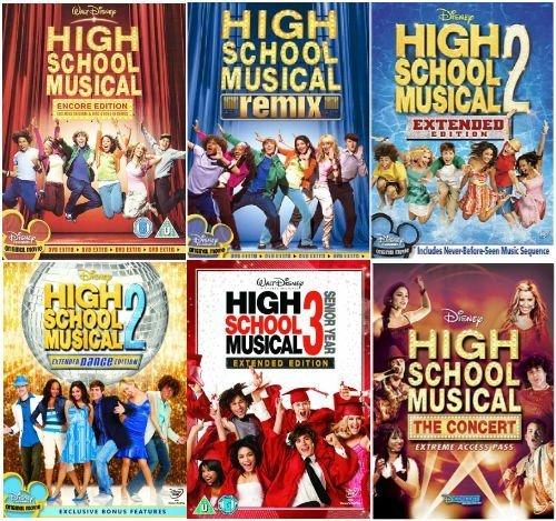 The Complete High School Musical 1 -3 DVD Collection- Encore Edition / High School Musical - Remix Edition /High School Musical 2 - Extended Edition / High School Musical 2 - Dance Edition / High School Musical 3 - Senior Year / High School Musical - The Concert