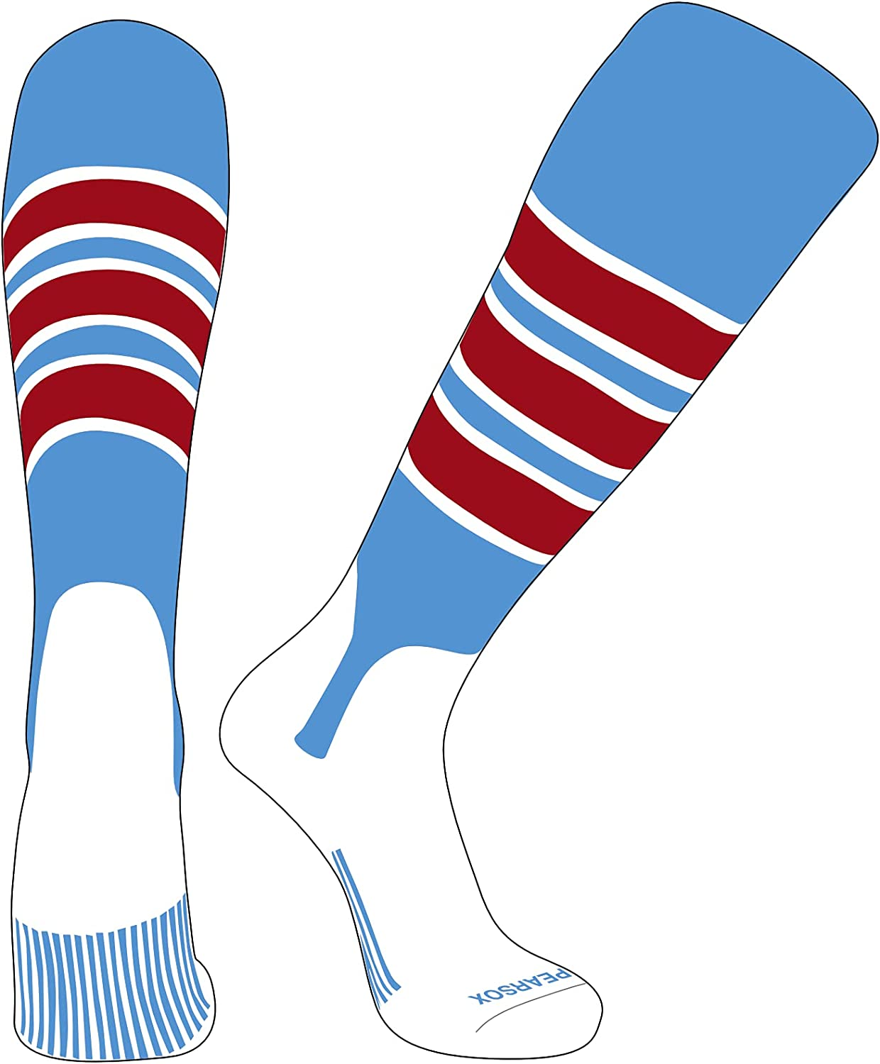 PEARSOX Elite Baseball Knee High Special price for Detroit Mall a limited time Stirrup Blue D Sky Socks 5in