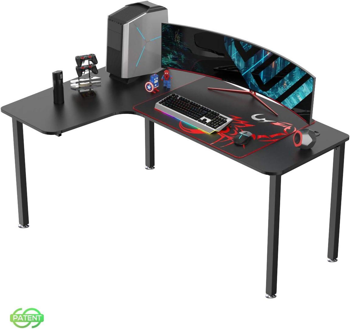 EUREKA ERGONOMIC Gaming Tisch L60 Eckschreibtisch Gaming Büro Schreibtisch L-förmige PC Tisch Gaming Groß Computerecktisch Gamer Tisch 155 * 110 cm…