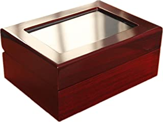 Melis-Championship Rings Display Cases Wooden Box 1-7 Holes