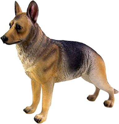 Wowser Realistic Cast Resin German Shepherd Dog Collectible Figurine, 8 1/2 Inch