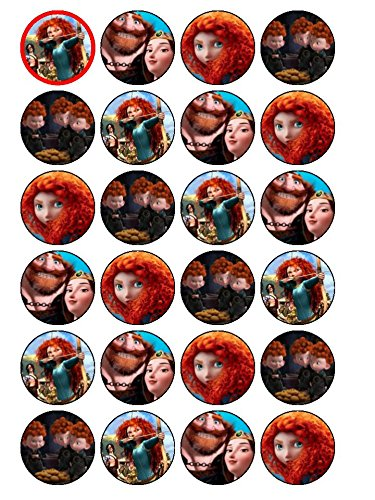 Price comparison product image 24 x Brave Cupcake Toppers