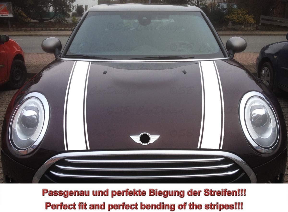 Streifen Stripes Aufkleber Motorhaube Für F54 Clubman Mini Cooper Schwarz Design 1 Auto