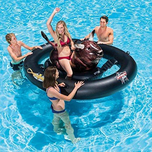 Lustiger Stier - Bulle Reiten - Badering Schwimmring Schwimm Ring Schwimmreifen Reifen Swim Ring Schwimmreifen aufgeblasen ca. 239 x 96 x 81 cm, PVC Folie ca. 0,25 mm super Schwimmspass