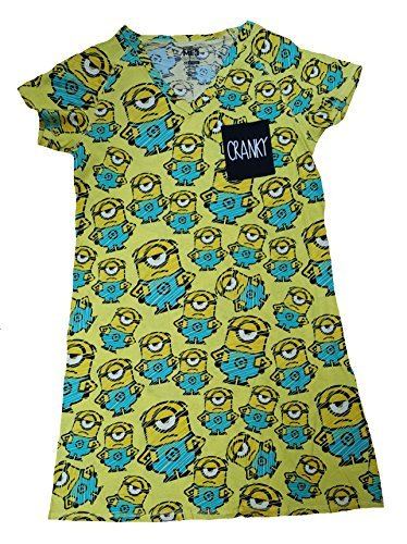 Despicable Me Minions All Over Yellow Nightgown Long Sleep Shirt - S/M