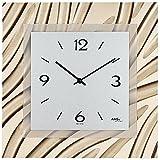 AMS 9329 reloj de pared de cuarzo con marco de madera, cristal mineral, de aluminio-dial de decoración del reloj