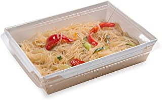 Restaurantware RWA0150-50 Plastic Lid for Cafe Vision Click Lock Take Out Container, Medium