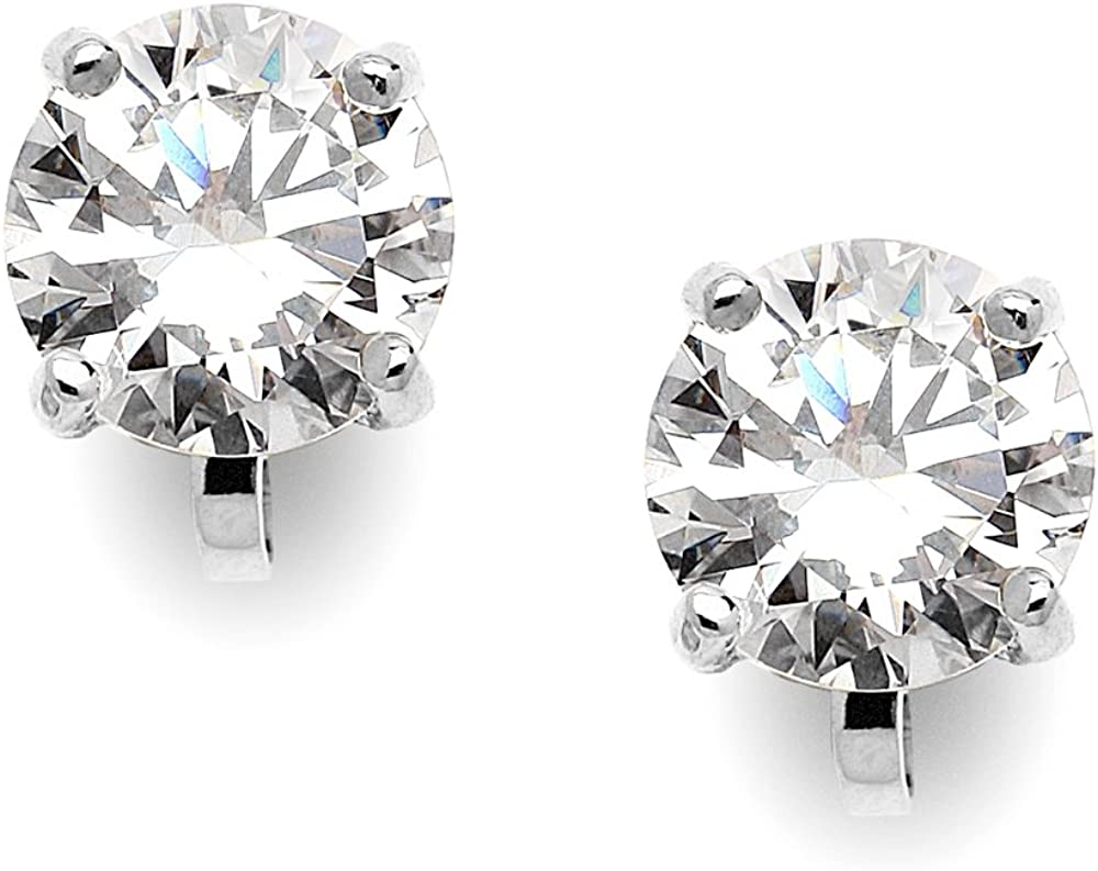 Reservation Mariell Cubic Zirconia Crystal Wedding Clip Stud Earrings On for Fixed price for sale
