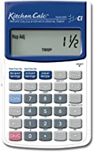 $36 » Calculated Industries 8300 KitchenCalc Recipe Conversion and Culinary Math Calculator with Digital Timer for Chefs, Culina...