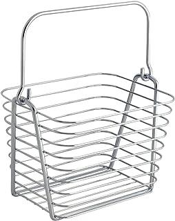 InterDesign Classico panier rangement, petit panier en métal avec poignées, corbeille rangement pour accessoires de salle ...